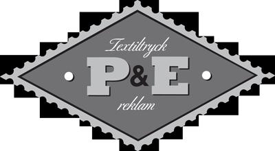 P & E Textiltryck Logo